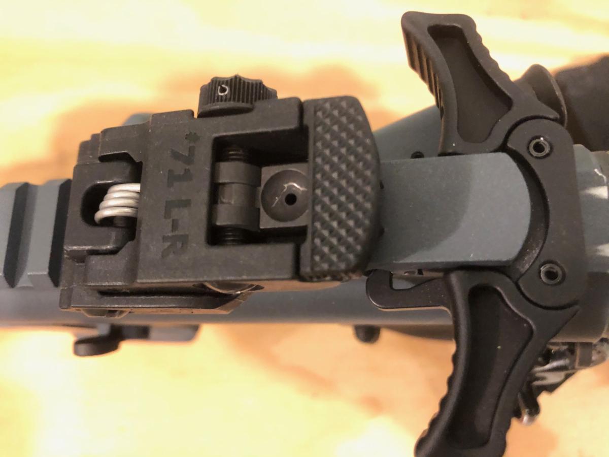 The A.R.M.S. 71L rear sight