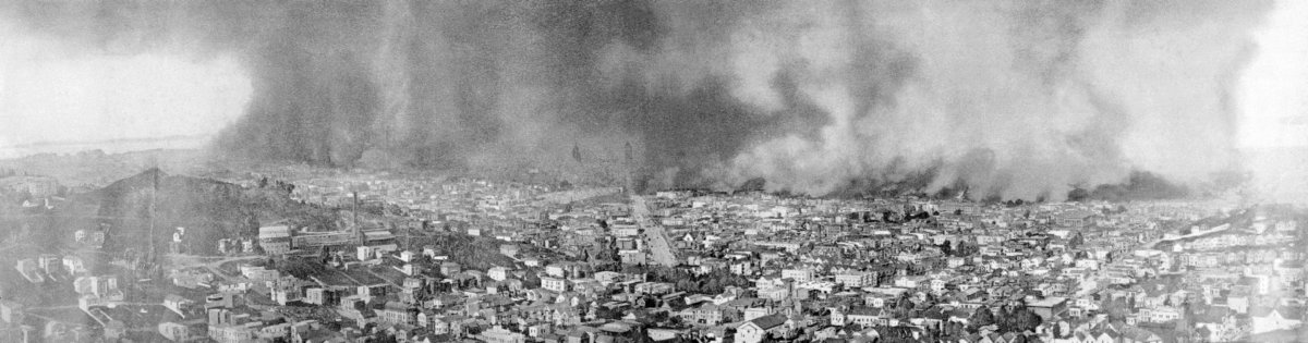 Fires broke out after the 1906 San Francisco Earthquake
