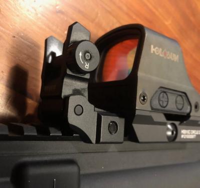UTG MNT-955 flip-up rear sight