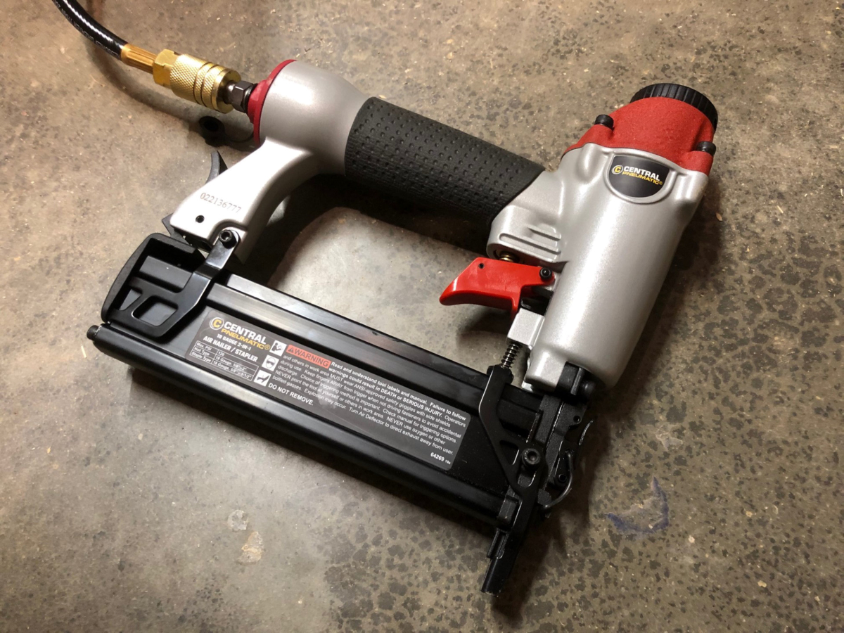 The Central Pneumatic 2-in-1 Air Nailer/Stapler from Harbor Freight