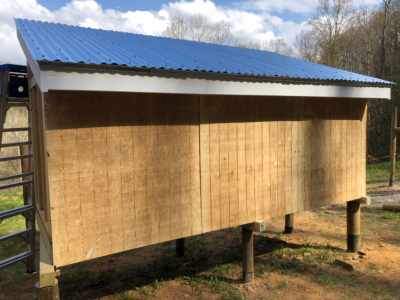 chicken coop with roof