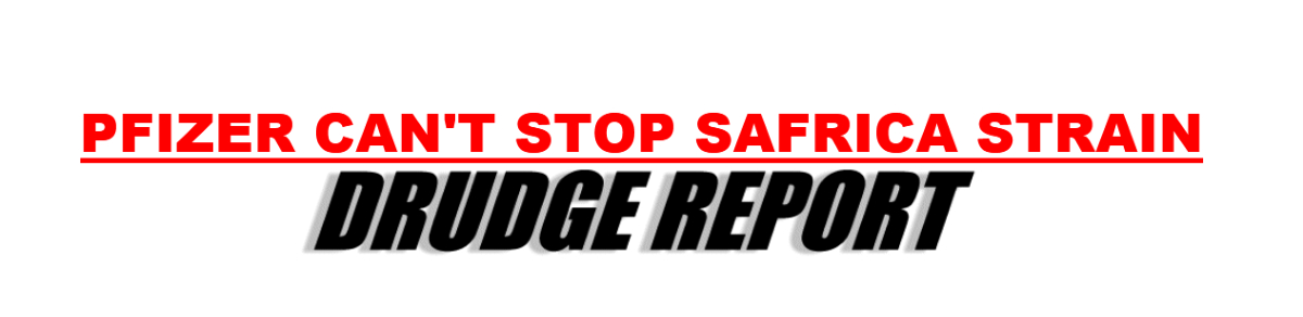 Sunday's headline on the Drudge Report