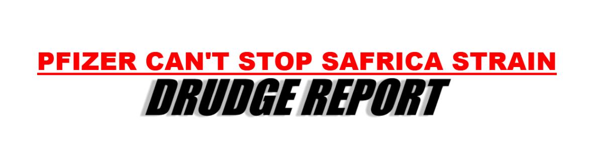 Sunday's headline on the Drudge Report