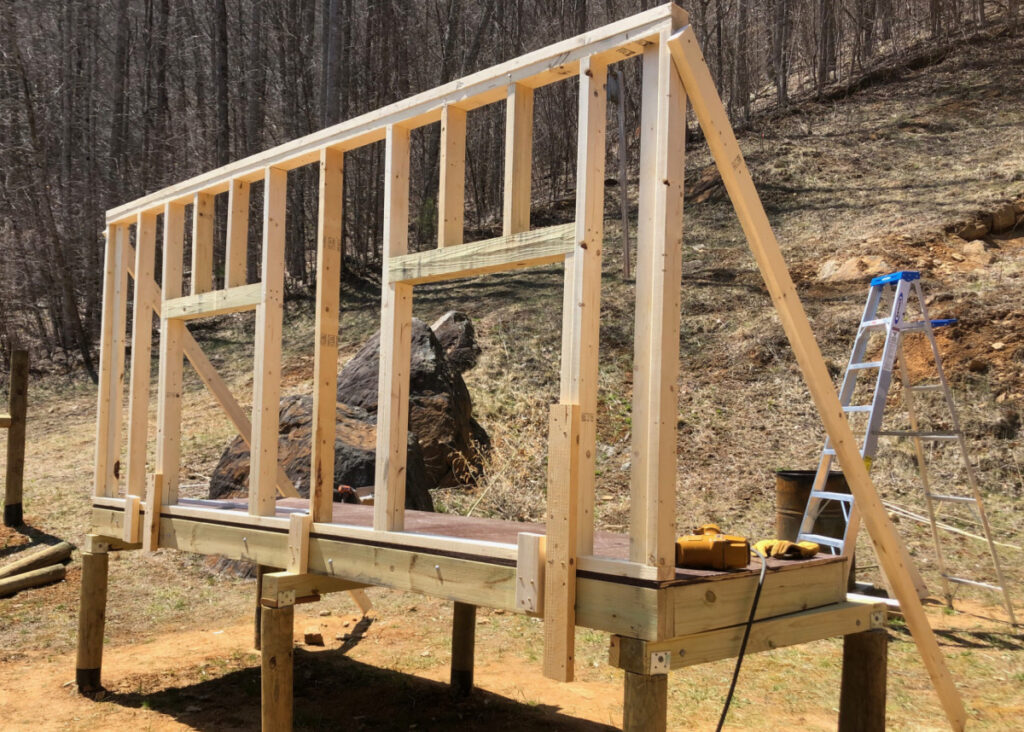 Front wall is raised