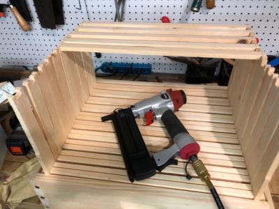 Assembling frames for beehives.