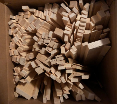 Scrap wood for kindling