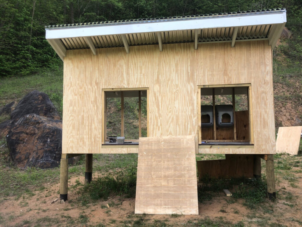 Chicken coop with more walls complete