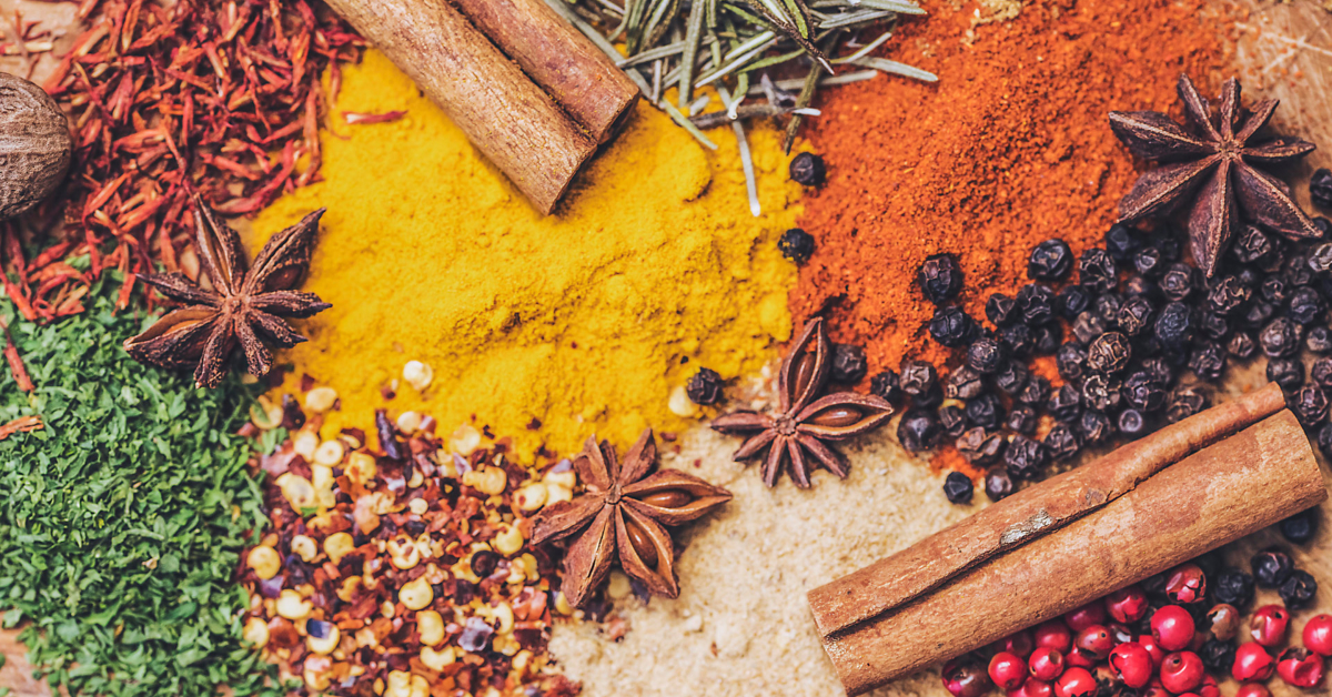 An array of spices. Photo by Marion Botella on Unsplash.