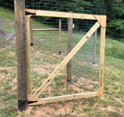 Homemade garden gate