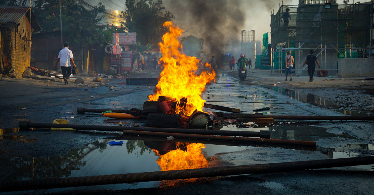 The aftermath of a riot. Image by Fajrul Falah from Pixabay.