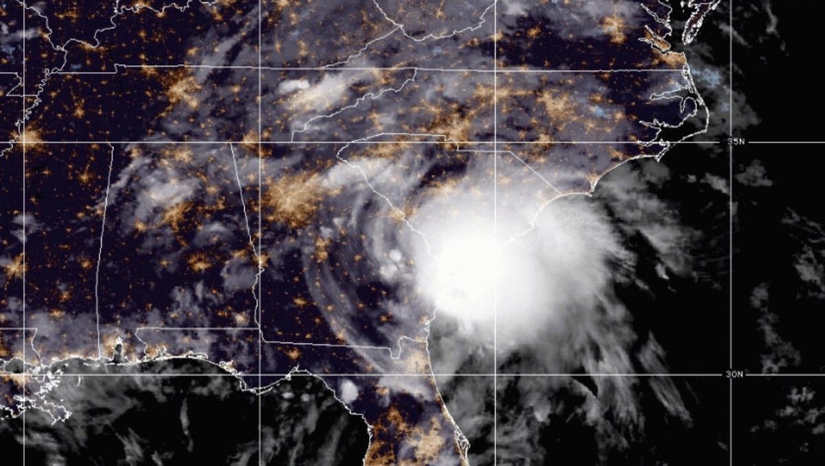 Hurricane Elsa heads north.