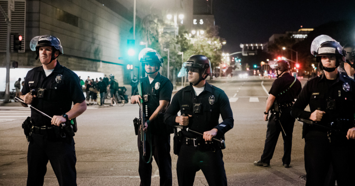 LAPD officers. Photo by Sean Lee on Unsplash.
