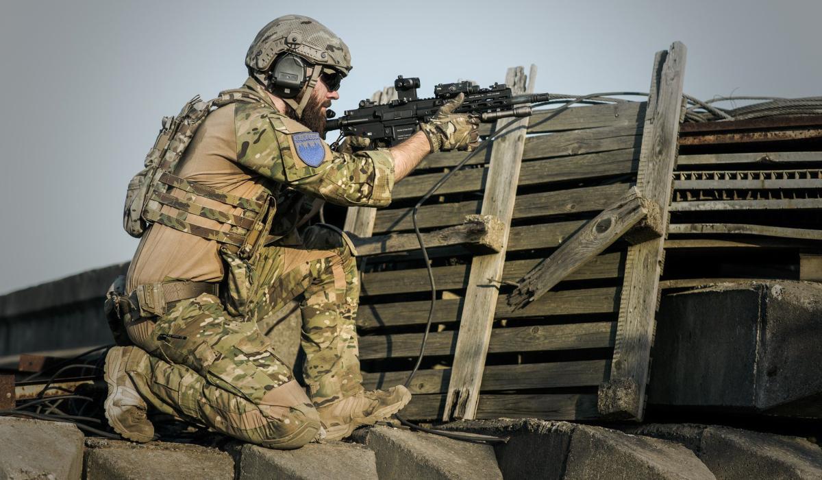 A warfighter in camo