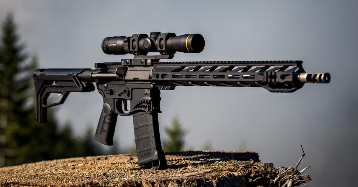 An AR15 carbine. Photo by STNGR Industries on Unsplash.