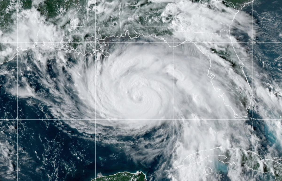 Hurricane Ida as seen on Saturday, August 20, 2021.