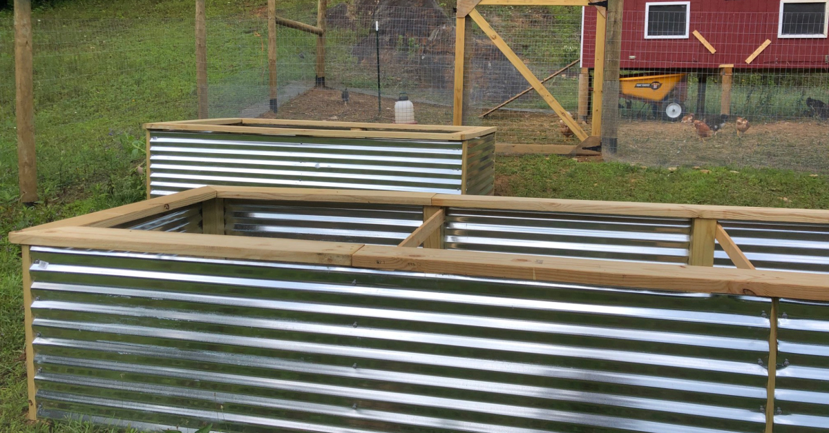 We Just Completed Two Raised Beds in the Garden