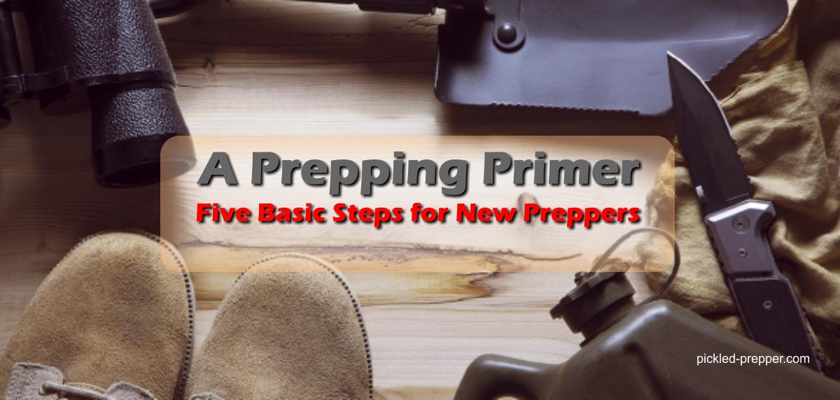 A Prepping Primer: Five Basic Steps for New Preppers – Part 1