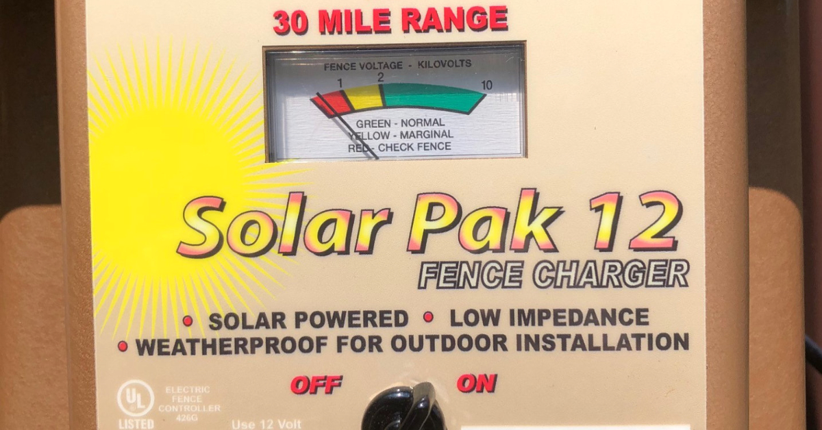 This means your electric fence isn't working.