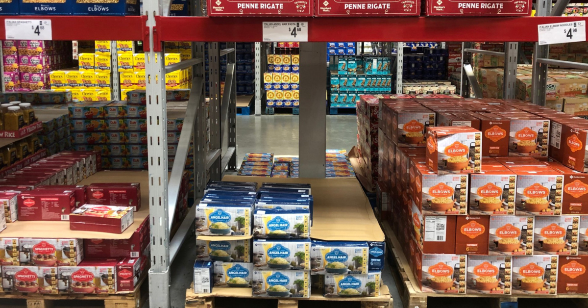 Spaghetti was available for 79 cents per pound at Sam's Club on September 15, 2021