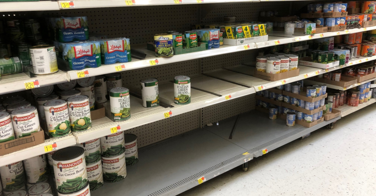 Bare Shelves Trending on Twitter and in your Local Store