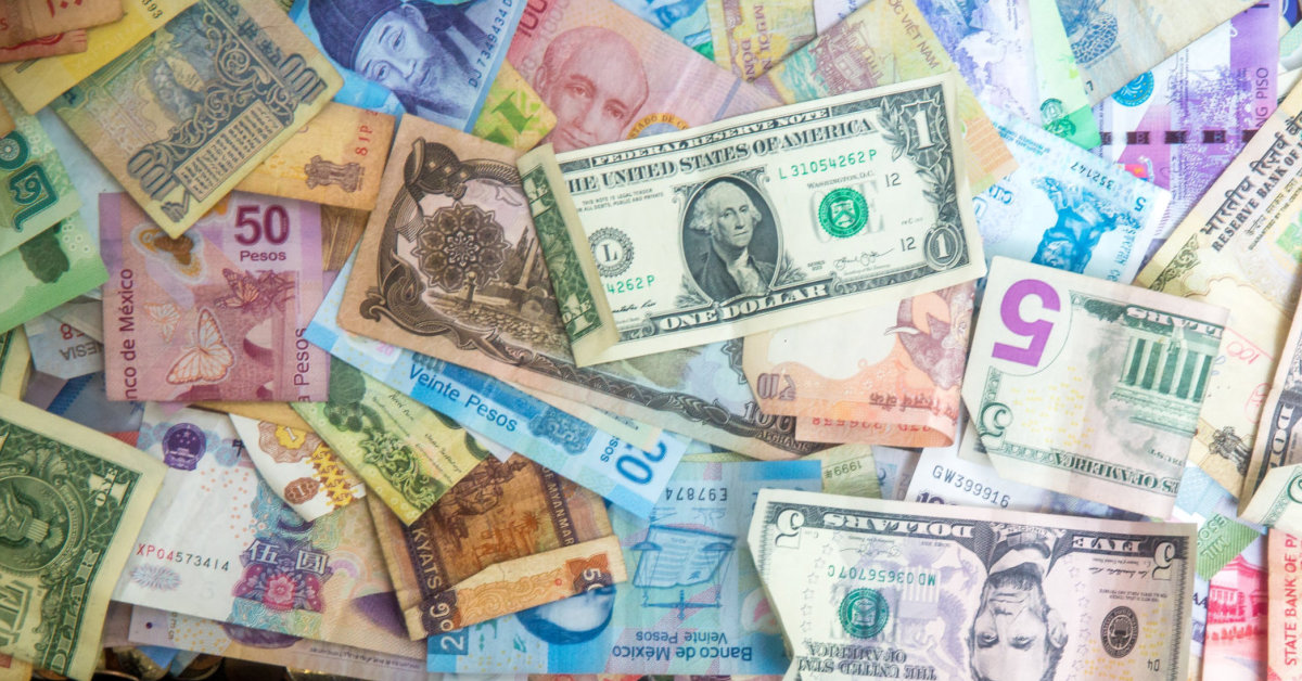 Fiat currency from around the globe