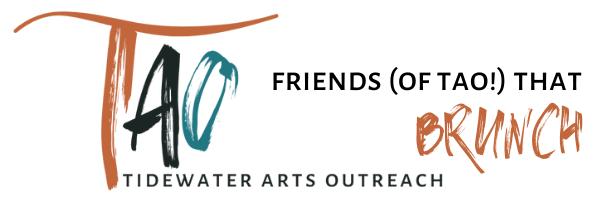 Brunch Header with TIdewater Arts Outreach Logo