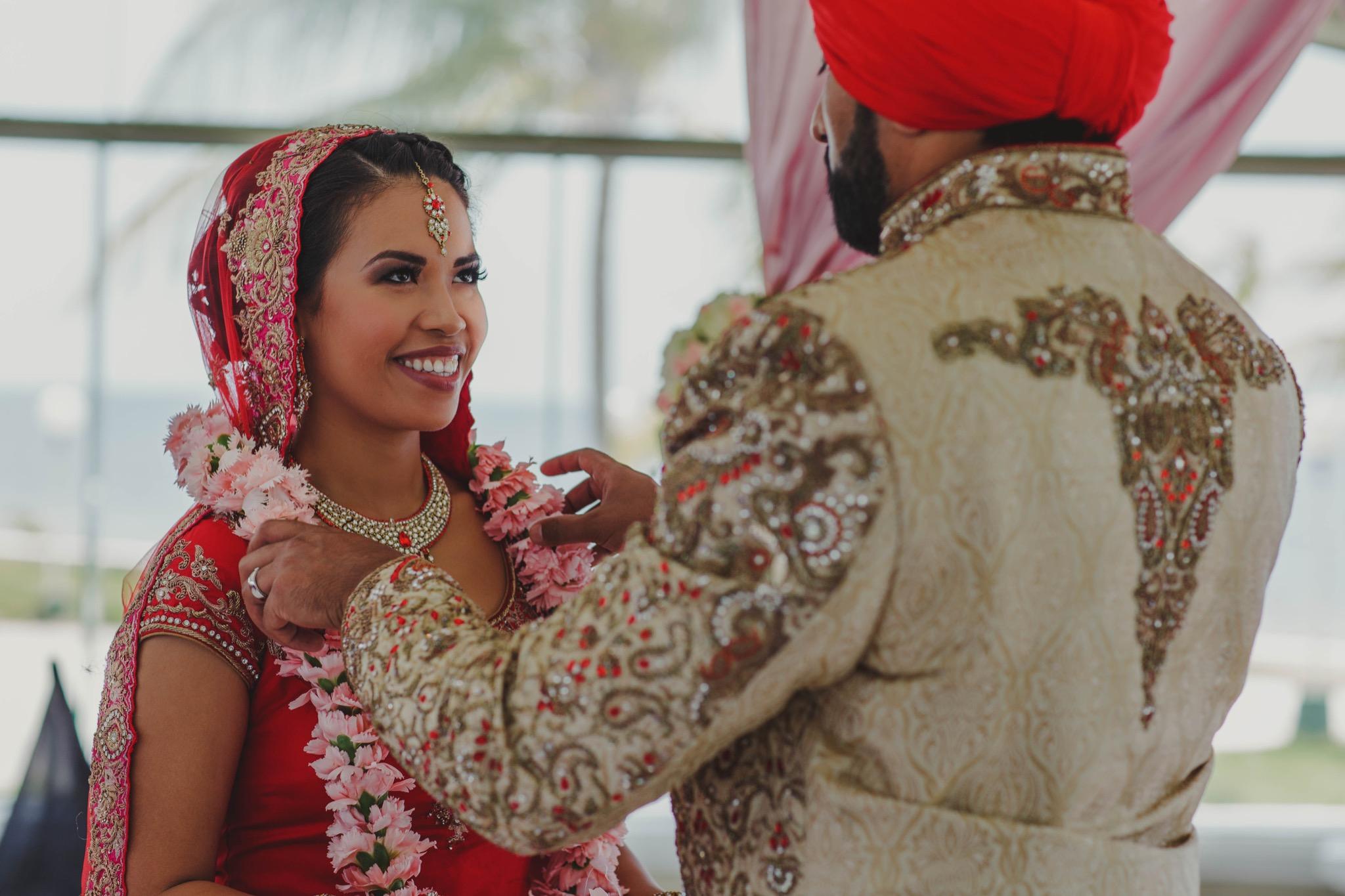 indian wedding mexico cancun playa del carmen moon palace photographer