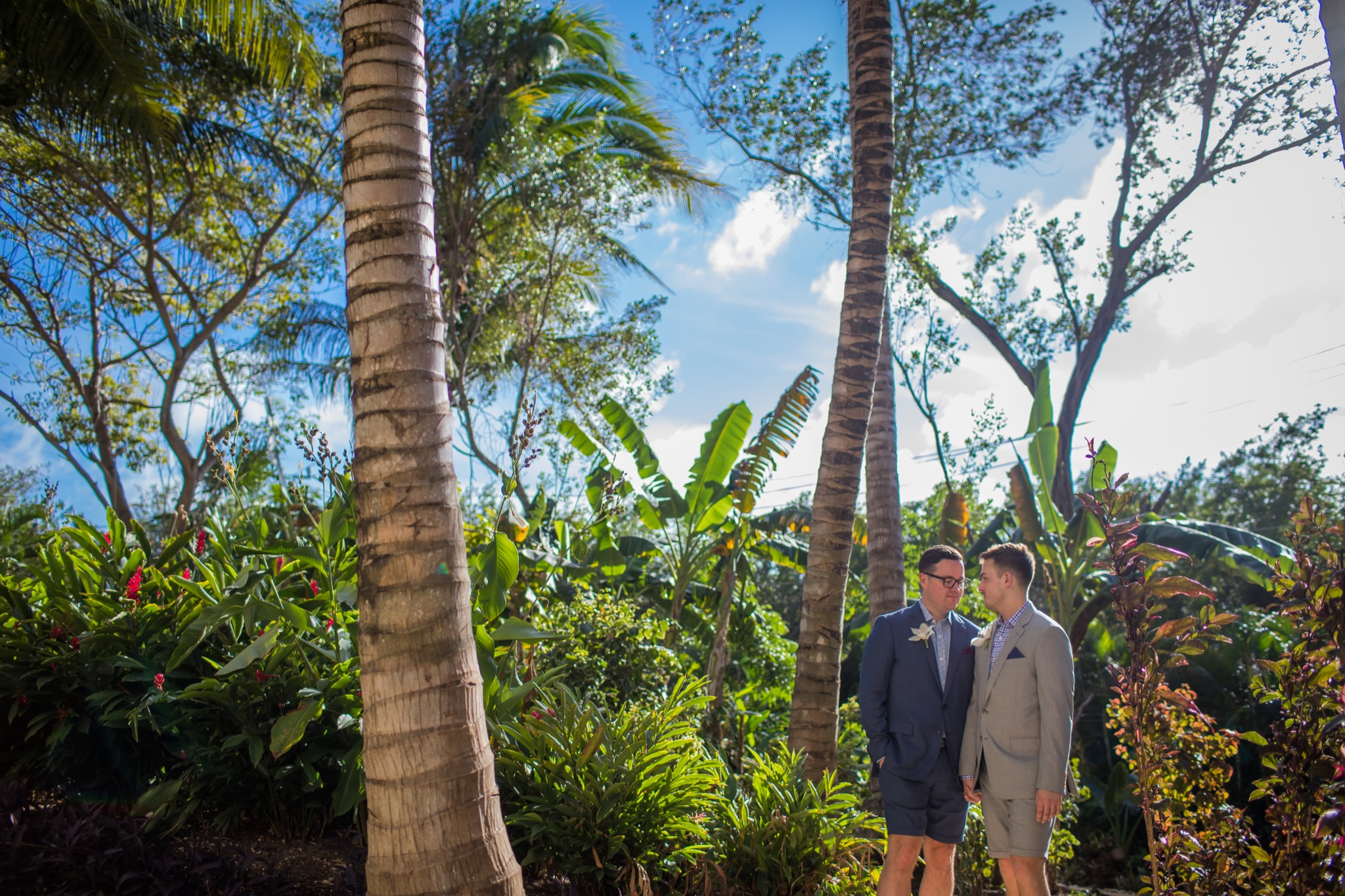 Same Sex Wedding in Playa del Carmen Cancun Paradise Photo Studio Two Grooms Holding Hands