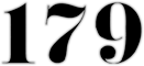 179 Logo with numbers