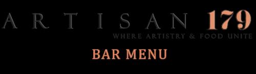 Artisan 179 bar menu logo heading
