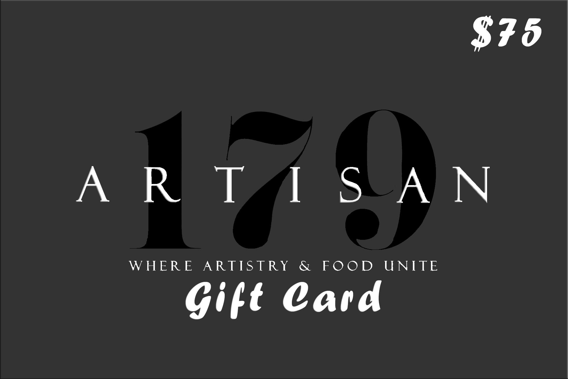 Artisan 179 Gift Card $75