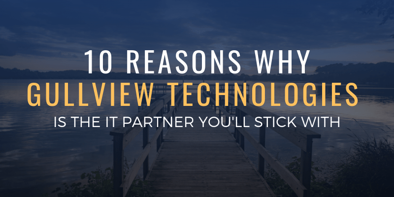 10 Reasons Why Gullview Technologies is the Partner You'll Stick With