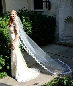 Edith Fitted lace beaded wedding gown