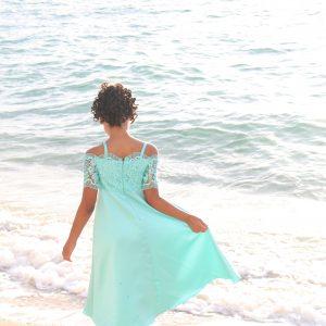 beach wedding girl dress