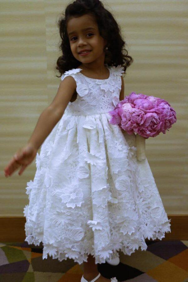 Flower lace dress