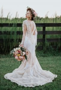 Bohemian Lace Bridal Gown Angie