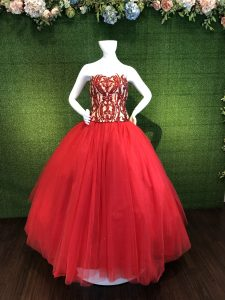 Red Corset Ball gown Prom Formal Gown