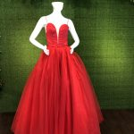 Red Ball gown Prom Dress Quinceanera