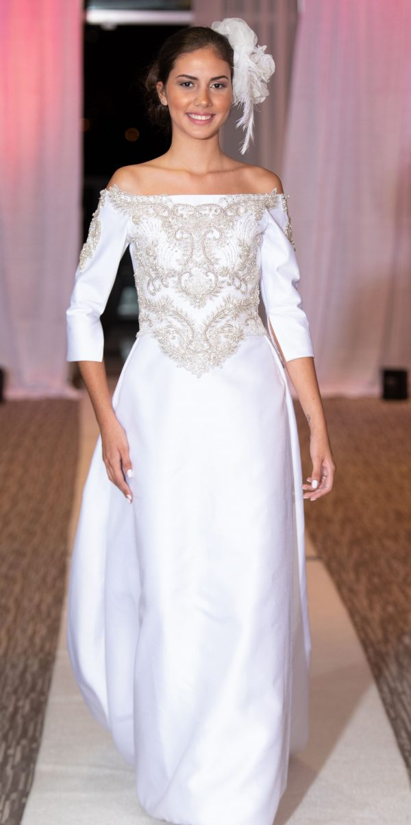 Custom design and made to order wedding dresses by Sira D Pion bridal designer Atelier Orlando Florida