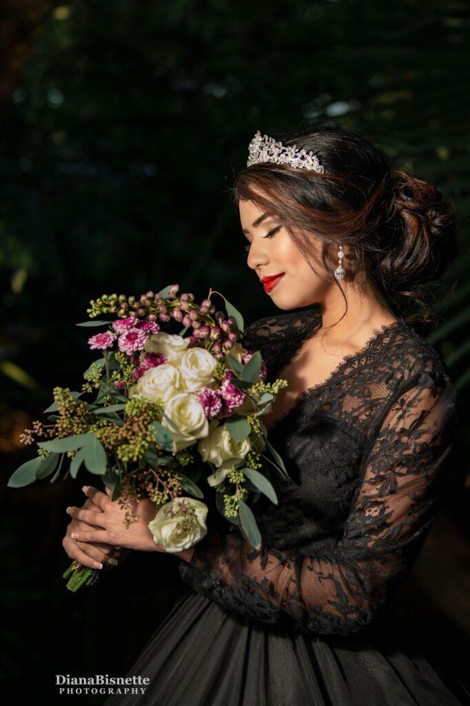 long sleeve black wedding dress