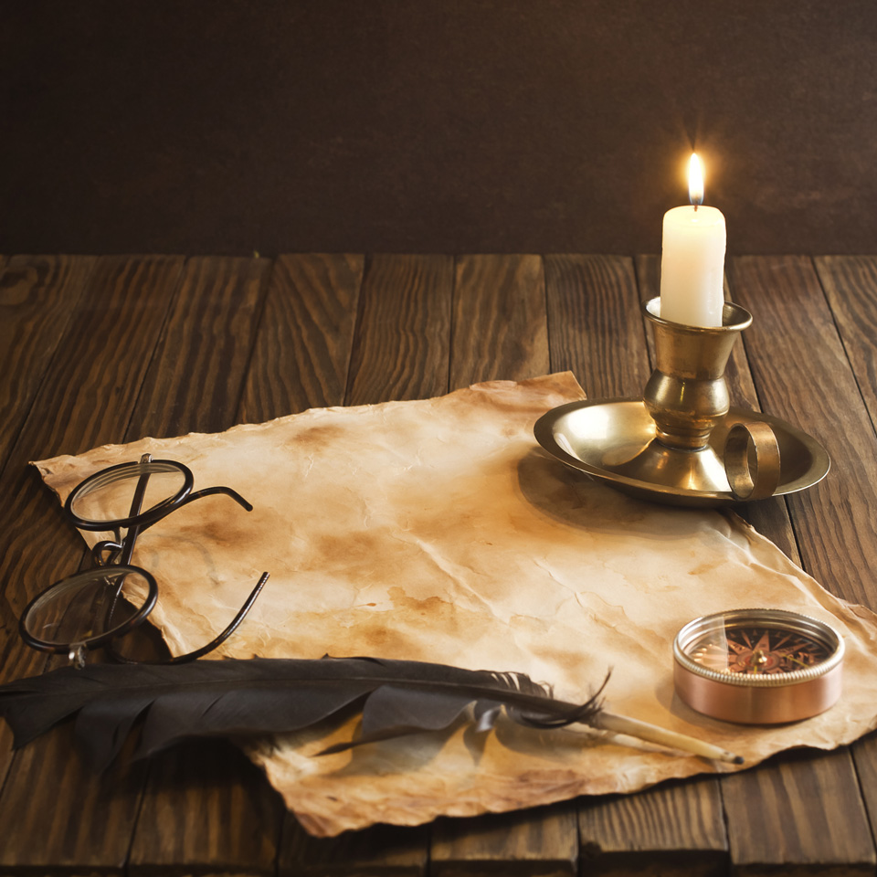 Quill Candle Letter