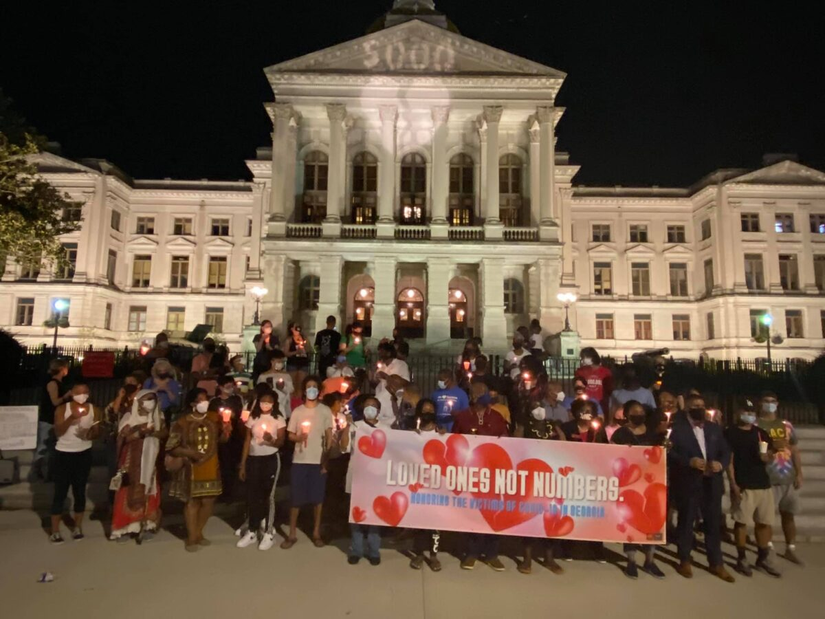 Loved Ones, Not Numbers candlelight COVID-19 vigil at GA Capitol