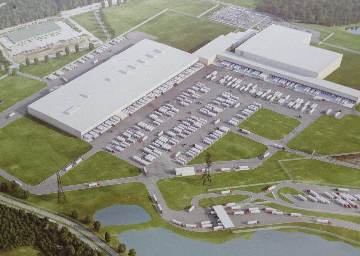Aerial view of Kroger distribution center, Forest Park, GA