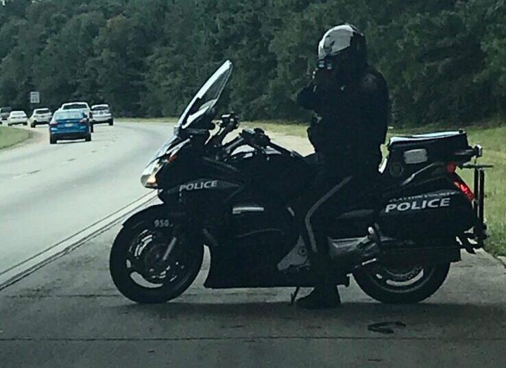 cop on motorbike