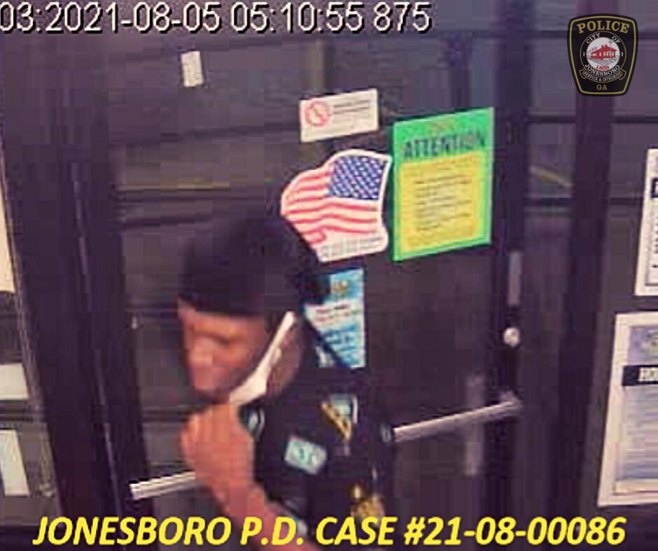 security photo of suspect in Waffle House theft
