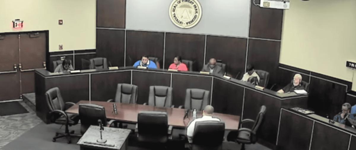 Forest Park City Council on dais
