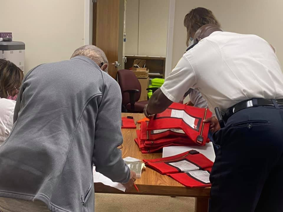 Election cards delivered to tallying room Sept. 21, 2021