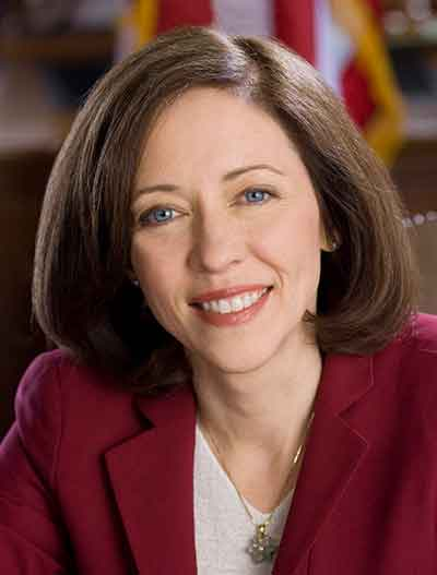 Official portrait of Junior Senator Maria Cantwell of Washington State