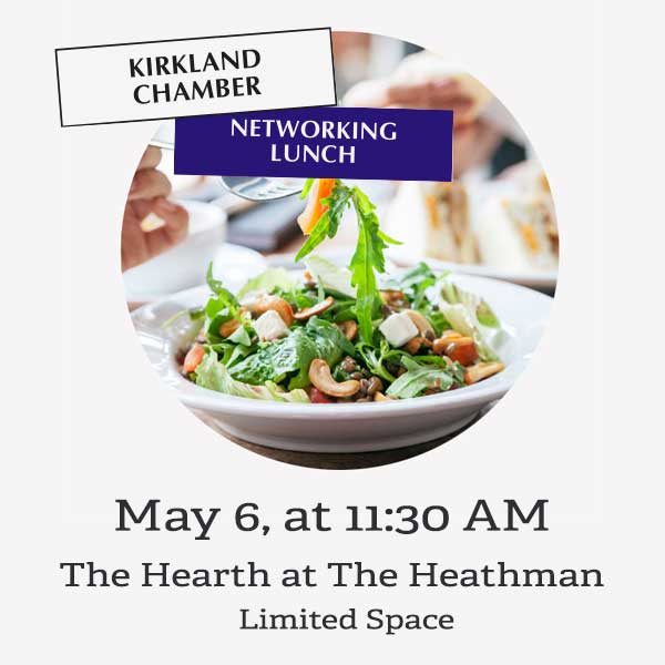 Networking lunch promotion on May 6, 2021