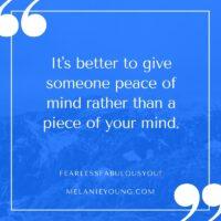 Piece of Mind vs. Peace of Mind
